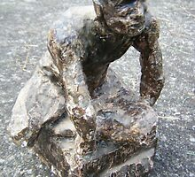 plaster and wax figure by Joanna Fountain