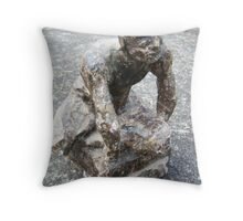 plaster and wax figure Throw Pillow