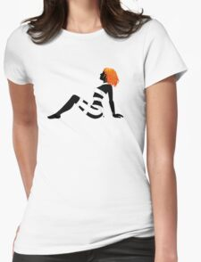 Leeloo Dallas Mudflap (mirror) Womens Fitted T-Shirt