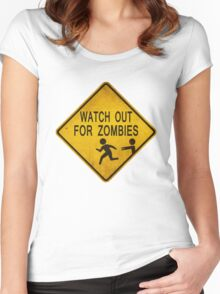 Watch Out For Zombies Women's Fitted Scoop T-Shirt