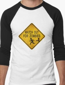Watch Out For Zombies Men's Baseball ¾ T-Shirt