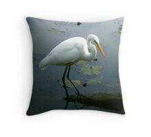 Graceful at the Lake Throw Pillow