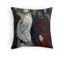 """""""WHO TOUCHED ME ?"""" Throw Pillow"""