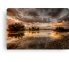 Swampset Canvas Print