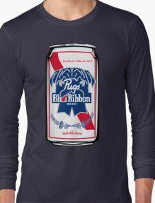 Pug Blue Ribbon Long Sleeve T-Shirt