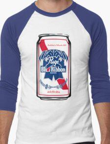 Pug Blue Ribbon Men's Baseball ¾ T-Shirt