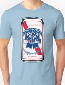 Pug Blue Ribbon T-Shirt