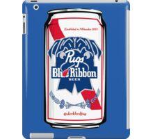Pug Blue Ribbon iPad Case/Skin