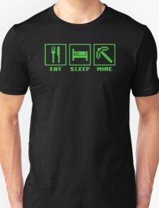 EAT SLEEP MINE MINECRAFT FUNNY T-Shirt