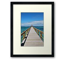 Boardwalk Fiji Framed Print