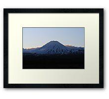 Snowy Mountain NZ Framed Print