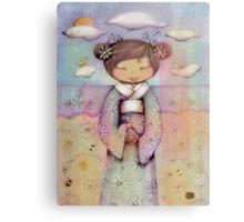 kokeshi flower girl Canvas Print