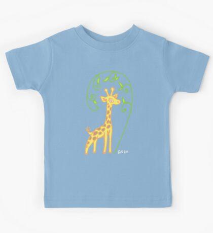 Giraffe with colour Kids Tee