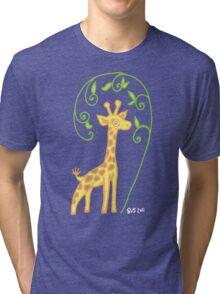 Giraffe with colour Tri-blend T-Shirt