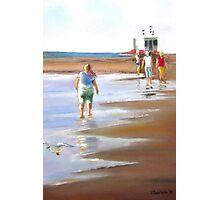 Beach Walker - Glenelg, Adelaide Photographic Print