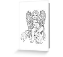 Angel Wings and Cat Tales Greeting Card