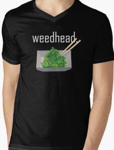 weedhead. (seaweed) <white text> Mens V-Neck T-Shirt