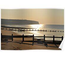 Sunrise on Sandown Beach Poster