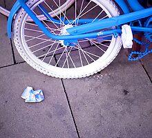 Blue Bike and Cigarette Pack by Francesca Wilkins