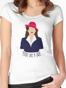 "P. Carter: ""Fight like a Girl."" Women's Fitted Scoop T-Shirt"