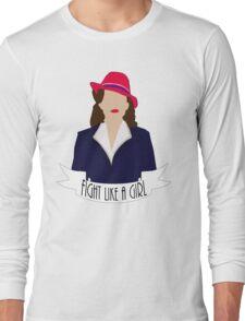 "P. Carter: ""Fight like a Girl."" Long Sleeve T-Shirt"