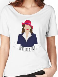 """P. Carter: """"Fight like a Girl."""" Women's Relaxed Fit T-Shirt"""