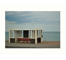 Bus shelter Art Print