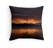 Burn For You (25 Exposure HDR Panorama) 2nd Cut -Narrabeen Lakes, Sydney - The HDR Experience Throw Pillow