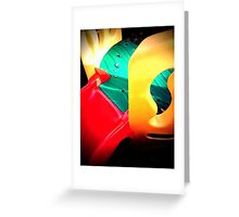 Multi coloured slide Greeting Card