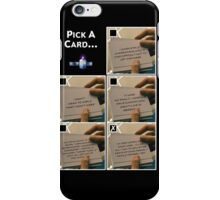 Doctor Who Pick a Card iPhone Case/Skin