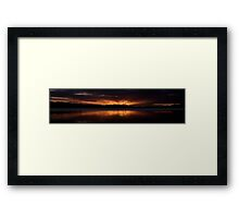 Burn For You (20 Exposure HDR Panorama) -Narrabeen Lakes, Sydney - The HDR Experience Framed Print