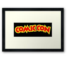 Comic Con - Red and Yellow Framed Print