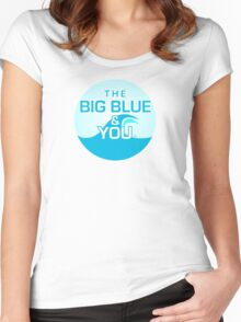 The Big Blue Logo Women's Fitted Scoop T-Shirt