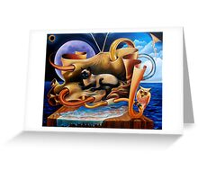 Owl and the Pussycat, lost at sea Greeting Card