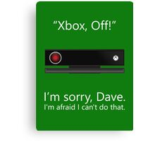 Kinect 9000 - Poster Canvas Print