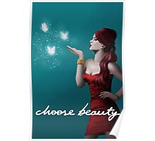 Witch and Light Butterflies Poster