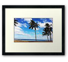 Haleiwa Beach Park Framed Print