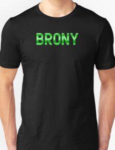 Brony - Metallic Text - Green T-Shirt