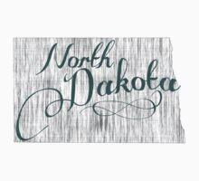 North Dakota State Typography Kids Tee