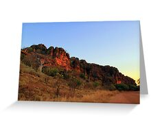 sunset on the gibb river road Greeting Card