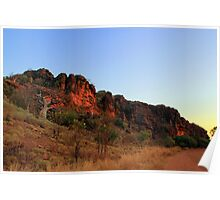 sunset on the gibb river road Poster