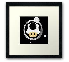 White Super Mushroom Framed Print
