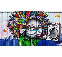 Afro Graffiti Boombox Photographic Print