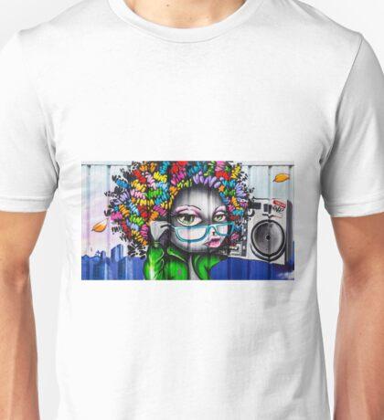 Afro Graffiti Boombox Unisex T-Shirt