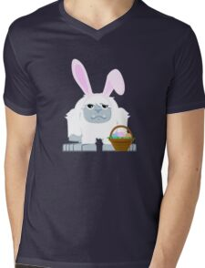 Cute Easter Yeti Mens V-Neck T-Shirt