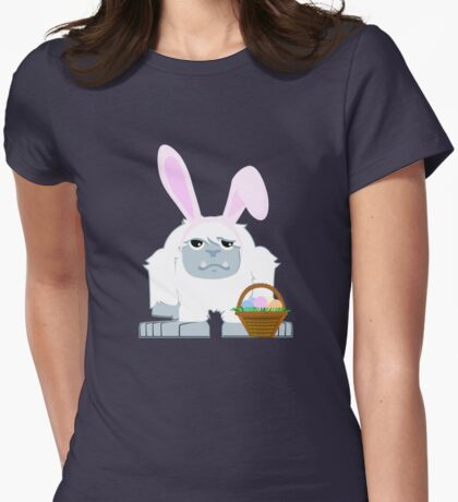 Cute Easter Yeti Womens Fitted T-Shirt