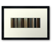 Moviebarcode: Troy (2004) Framed Print