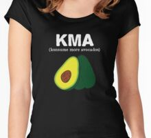 kma/(konsume more avocados) <white text> Women's Fitted Scoop T-Shirt