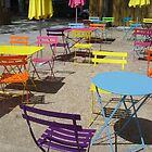 Rainbow chairs by Carol Dumousseau