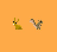 Rabbit + Squirrel by Justin Mair